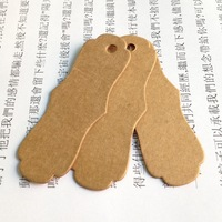 Free shipping wholesale DIY ZAKKA homemade Kraft paper tags bookmark mood message card Blank 500g 100pcs/lot 75x28x0.5mm