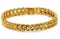 fashion jewelry,18k yellow gold 9mm bracelet Leisure bracelet,18k bracelet bangle for women bride gift free shipping