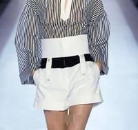 free shipping  Fashion ruslana korshunova high waist shorts spring white shorts female summer shorts xxl female white pants XXL
