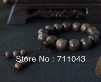 Tibetan Vietnam natural aloes beads bracelet hand string of agarwooden beads  aloeswood beads 16mm for men