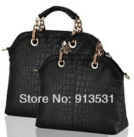 Free shipping 2013 New Designer Crocodile grain Noble temperament High-end fashion bags