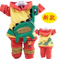 Children's clothing spring 2013 long twinset giraffe sports set casual clothing