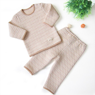 New arrival organic cotton child thermal underwear set children&#39;s clothing 100% cotton thickening baby 100% cotton long johns(China (Mainland))