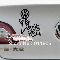 13 X 15 FREESHIPPING 3M VW GOLF GTI car accessories Reflective car Bike body cartoon spoof stickers vw emblem