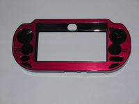 red color Protective Aluminum Cover Plastic Case +Screen protector for PS Vita