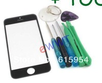 Black / white Front Screen Cover Glass Lens + Tools for iPhone 5 5G BQGS116