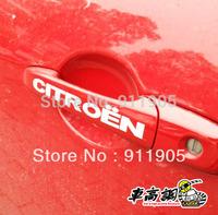10 X 2 FREESHIPPING citroen SEGA C5 C4 door handles handle refires reflective car stickers citroen LOGO