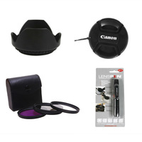 67mm Filter kit UV FLD CPL circular polarized + hood+cap+lens pen for canon