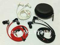 """L"" plug/Handsfree 3.5MM In-ear earphone for MP3/ DJ earphone with 6 earbud + carry case Freeshipping 5PCS/lot"