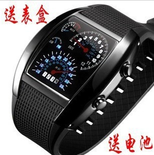 Sector led watches personalized men's fashion led electronic personalized thepole speed sports car instrument tray(China (Mainland))