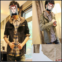 Free shipping 2013 autumn men's clothing outerwear male spring and autumn slim male jacket male thin casual outerwear male
