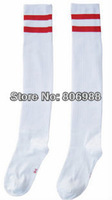 Wholesale cheap white kids soccer stockings high quality children football socks Free shipping
