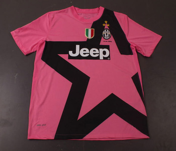 Free Shipping !!Wholesale And Retail Juventus Third jersey Pink 2012-2013, Thailand Quality Football Jerseys