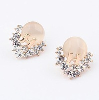 Min. order is $10(mix)  694 fancy gern crystal jade earring fashion earrings wholesale jewelry 2013