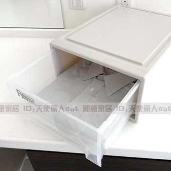 Fits series modular drawer stationery storage cosmetics single tier storage box finishing