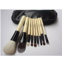 9 pcs make up cosmetic brush set with cosmetic bag,Animal wool,free shipping,CBS1021-01