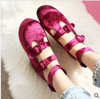 2013 fashion spring platform fashion platform increased female shoes single shoes flatbottomed women's shoes