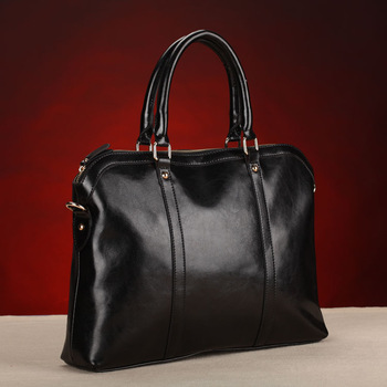 2013 genuine leather women's handbag messenger bags business bag briefcase laptop bag cowhide work bag