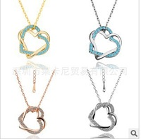 Free shipping 18 k gold plated platinum pendant necklace $10 minimum orders welcome shopping