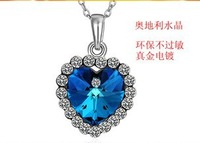 Free shipping 18 k goldd plated platinumm pendant necklace $10 minimum orders welcome shopping
