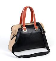 Stylish designer patchwork woman handbag / elegant shoulder bag with genuine leather material for 2013 new season (B0086)