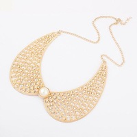 Min.order $10(mix) imitate pearl collar necklace 2013 jewelry wholesale hollow necklaces for women