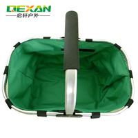 Ultra-light aluminum mount shopping basket portable folding blue mentioning dishes device multicolor