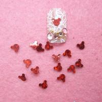 Free Shipping 100g/bag red Mickey head nail art decorations