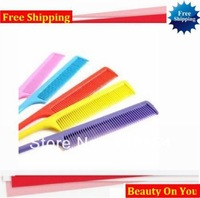 40pcs/lot Wholesale free shipping Hair Makeup Tool combs sharp tail thin brush plastic cosmetic applicator