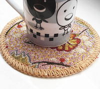 18 jottings bowl pad fashion cup pad bowl pad cloth disc pads pot holder placemat
