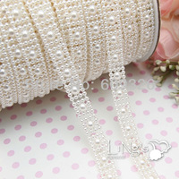 Free shipping 10mm Ivory Pearl Chain or Connection Pearl for garment accessories or home decoration