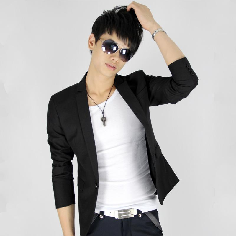2012 men's clothing outerwear male short design suit slim suit blazer male(China (Mainland))
