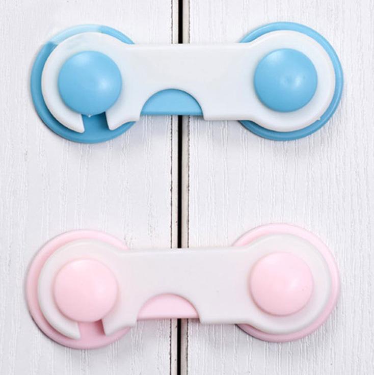 10PCS Infant door drawer fridge Furniture cabinet toilet safety locks for plastic adhesive child baby children plastic(China (Mainland))