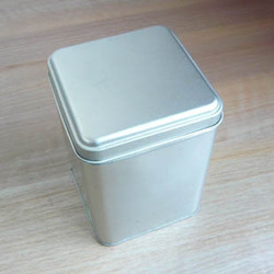Square-fashion 35 tea metal box tea caddy silver tin tinsheet the jar tea tin tank(China (Mainland))