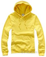 2012 thin 100% women's lovers cotton sweatshirt outerwear hooded pullover sweater blank sweatshirt yellow