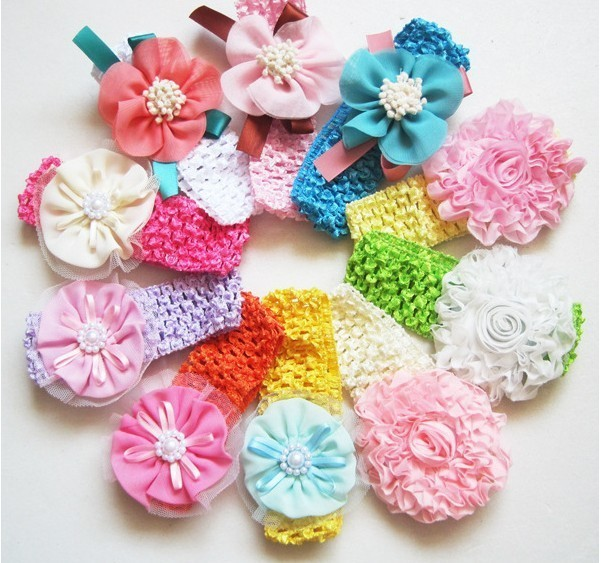 Free shiping 10 designs for choose Flower Headband,Kids Hair Ornaments,Girl's Lace Headwear,Girls Topknot, Baby Hair Accessory(China (Mainland))
