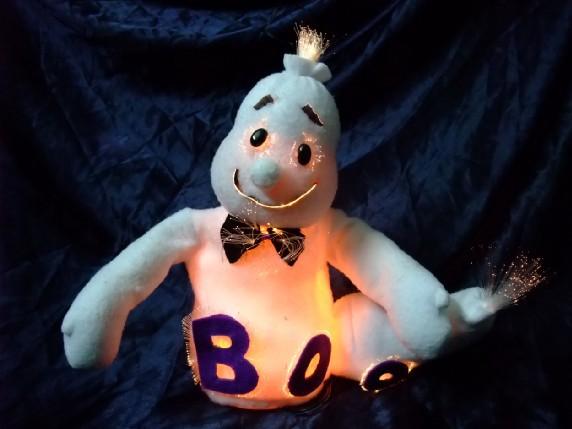 Halloween decoration fiber optic white doll luminous crafts(China (Mainland))