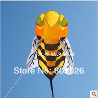Hot sell free shipping 2.8m Bee soft Kite children kite  outdoor toys power kite factory nylon ripstop print bird resin