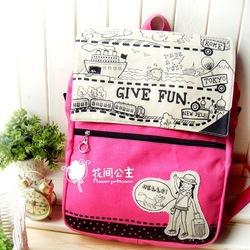 Free shipping hot Traveler . backpack laptop bag pink(China (Mainland))