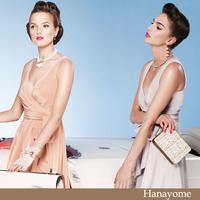 Fashion star 2012 chiffon skirt medium double-shoulder fashion ruslana korshunova dress skirt