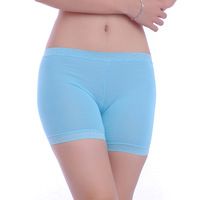 2013 spring and summer all-match seamless bamboo fibre shorts lace basic women's shorts