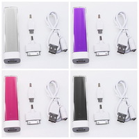 1pc/lot ,Free Shipping 4colors Emergency Portable 2600mAh USB Power Bank External Battery Charger For Mobile Phone