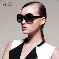 Shes 2013 sunglasses new arrival polarized women's large sunglasses driving mirror glasses