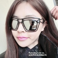 6pcs Pearl sunglasses star elegant style all-match pearl women's paragraph of the sunglasses Anti-UV