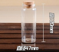 Free shipping 150ml Glass Wishing  Bottle For Wedding Decoration 47x120Size In 47g/Piece With Cork Of High Quality On Wholesale
