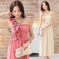 2012 bridesmaid dress long design one shoulder evening dress bridesmaid bridal formal dress
