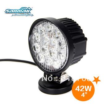 "Brightness  7.5"" 42W 3500 Lumen Farm Agriculture Vehicles LED Work Light SM6421"