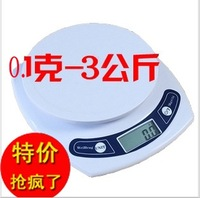 Freeshipping Electronic kitchen scale platform scales 0.1g 3kg