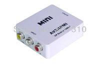 New Mini Composite AV CVBS to HDMI 720P 1080P(60Hz) HD Digital Video AV2HDMI Converter Adapter HDV-M615 Free Shipping
