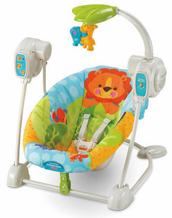 Free shiping# Fisher price Fisher animal swing v7464 automatic baby rocking chair(China (Mainland))